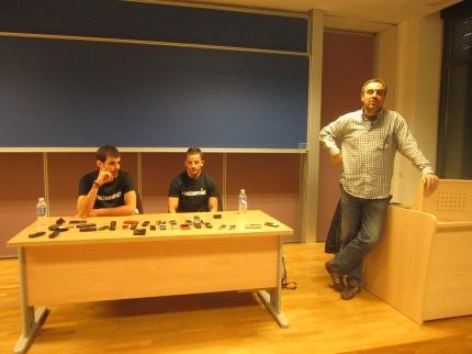 Angel Gómez, Rubén Ferrández y José Luis González